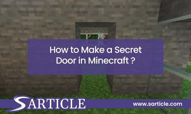 Secret Door in Minecraft